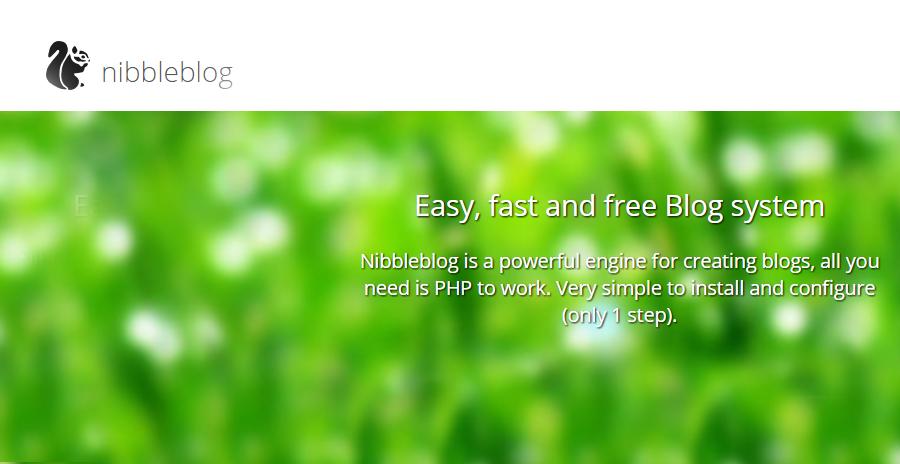 CMS para Blogs Facil, rapido y gratis: Nibbleblog