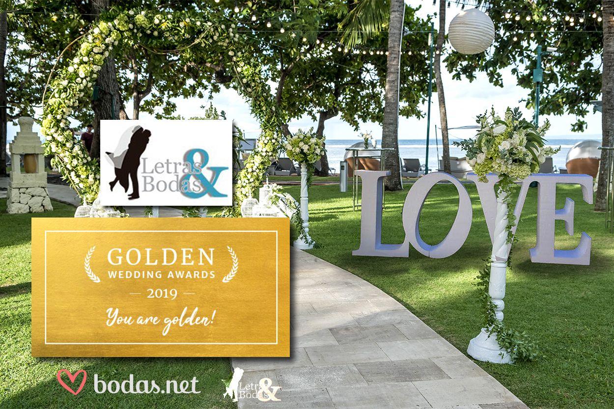 Letras & Bodas gana el Premio Golden Wedding Awards 2019 de Bodas.net
